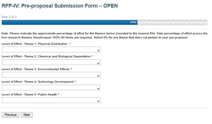 Research proposal submission form