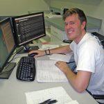 Intern Taylor Shropshire advanced his aquatic ecosystem modeling skills using specialized computer programs at FSU. (Photo courtesy of Deep-C)