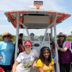 Educators on their way to conduct field work in Louisiana wetlands. (Photo courtesy of CWC)